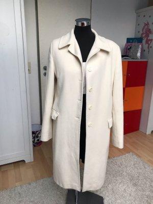 Manteau en laine blanc cassé