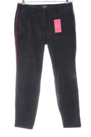 Mason's Pantalón tobillero negro-caqui estampado a cuadros look casual
