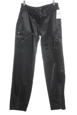 Mason's Pantalón de camuflaje negro look casual