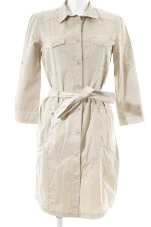 Mason's Vestido de camuflaje beige look casual