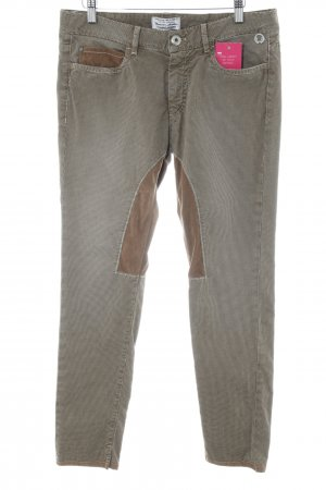Mason's Riding Trousers beige-dark brown houndstooth pattern Brit look