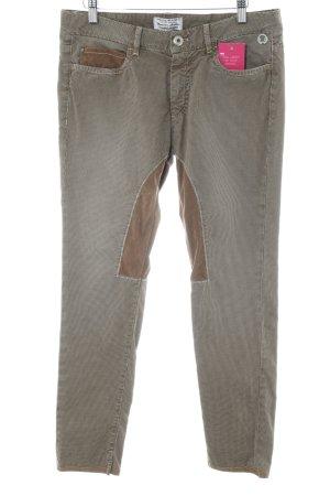 Mason's Pantalone da equitazione beige-marrone scuro Stampa suggestiva