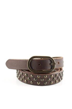 Masscob Cintura borchiata marrone stile casual