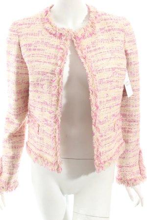Massimo Danieli Kurz-Blazer creme-pink Vintage-Look