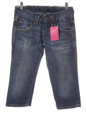 Massimo Dutti 3/4-jeans donkerblauw simpele stijl