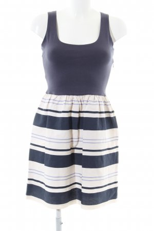 Massimo Dutti A-Linien Kleid blau-weiß Streifenmuster Casual-Look