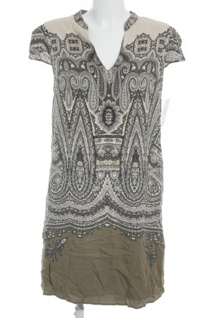 Massimo Dutti A-Linien Kleid abstraktes Muster Gypsy-Look