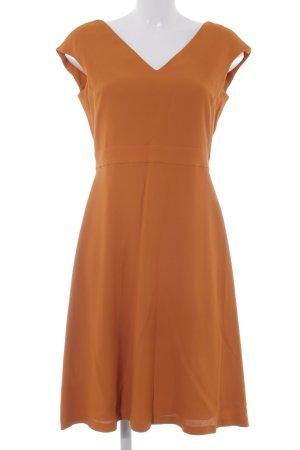 Massimo Dutti Vestido línea A naranja oscuro elegante