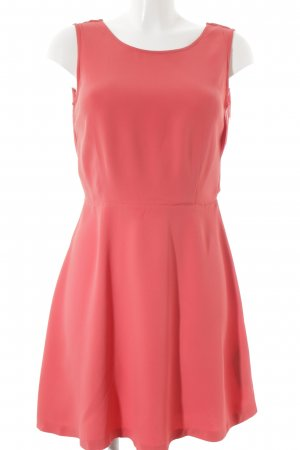 Massimo Dutti A-Linien Kleid pink-lachs Romantik-Look