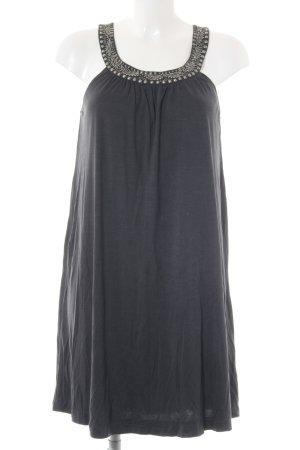Massimo Dutti Abendkleid silberfarben-graublau Elegant
