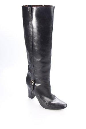Massimo Dutti Absatz Stiefel schwarz klassischer Stil