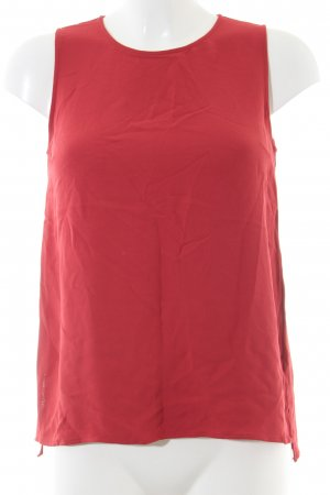 Massimo Dutti ärmellose Bluse rot Casual-Look