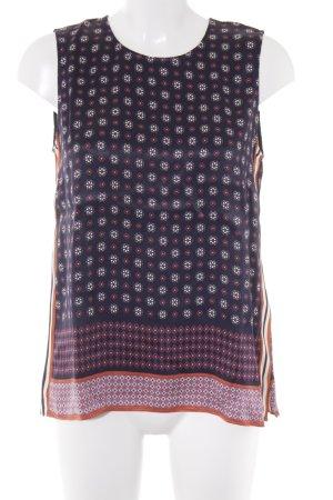 Massimo Dutti ärmellose Bluse abstraktes Muster klassischer Stil