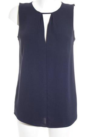 Massimo Dutti ärmellose Bluse dunkelblau klassischer Stil