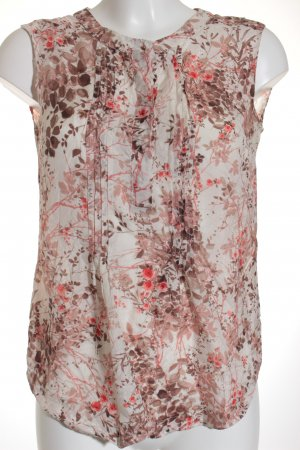 Massimo Dutti ärmellose Bluse florales Muster Casual-Look