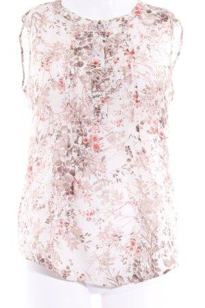 Massimo Dutti ärmellose Bluse florales Muster Romantik-Look
