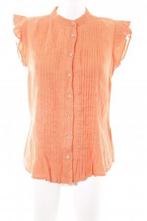 Massimo Dutti ärmellose Bluse orange Business-Look