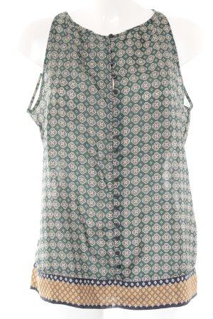 Massimo Dutti ärmellose Bluse Ornamentenmuster klassischer Stil