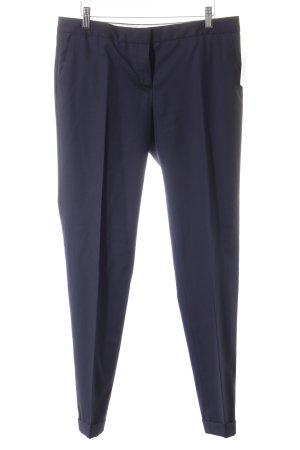 Massimo Dutti Anzughose dunkelblau Streifenmuster Business-Look