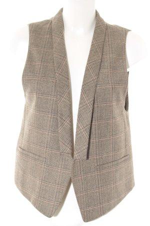 Massimo Dutti Gilet de costume motif à carreaux style simple
