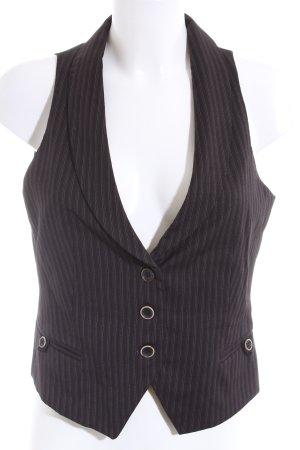 Massimo Dutti Gilet de costume noir motif rayé style d'affaires