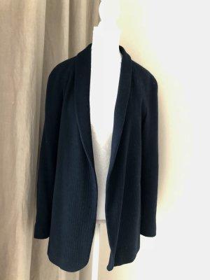 Massimo Dutti Blazer in maglia blu scuro Cotone
