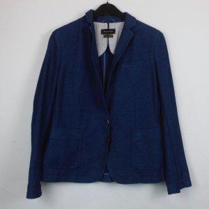 Massimo Dutti Blazer en jean bleu-bleu foncé coton