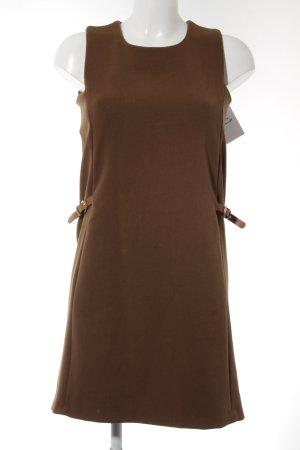 Massimo Dutti Pencil Dress cognac-coloured elegant