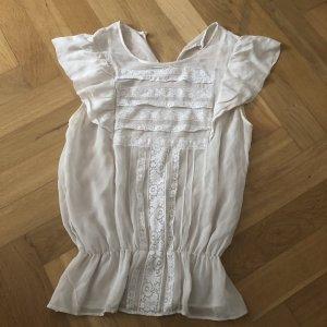 Massimo Dutti Mouwloze blouse wit