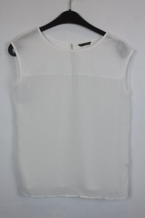 Massimo Dutti Bluse Top Gr. S off white weiß (18/3/243)