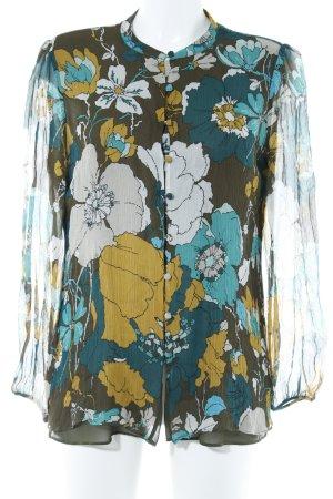 Massimo Dutti Veste chemisier motif de fleur style romantique