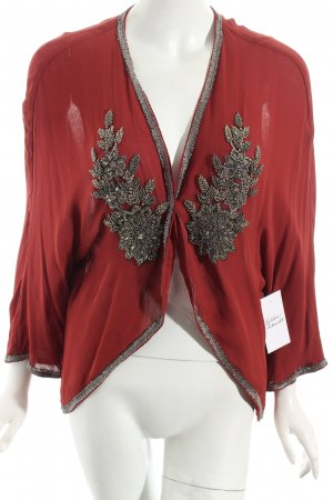 Massimo Dutti Blouse Jacket dark red elegant