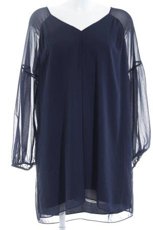 Massimo Dutti Blusenkleid dunkelblau Casual-Look