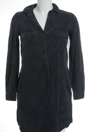 Massimo Dutti Blusenkleid dunkelblau Jeans-Optik