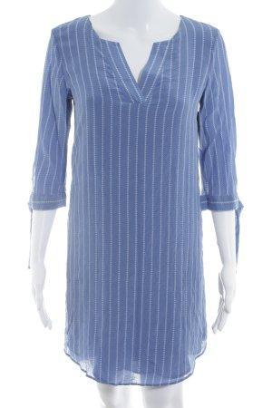Massimo Dutti Blusenkleid kornblumenblau-weiß grafisches Muster Casual-Look