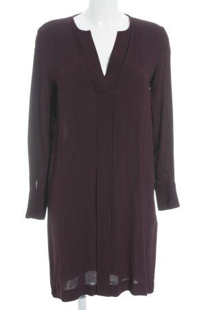 Massimo Dutti Blusenkleid purpur schlichter Stil