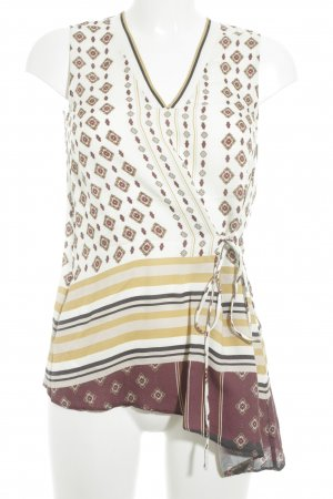 Massimo Dutti Blouse Top abstract pattern business style