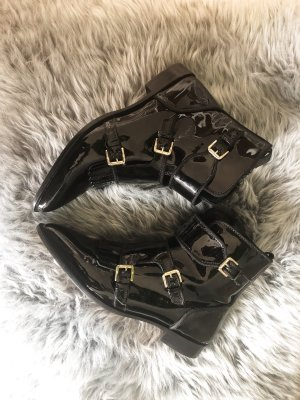Massimo Dutti Boots schwarz Lack 39 *neu