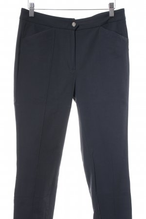 Massimo Dutti Bundfaltenhose dunkelblau Business-Look