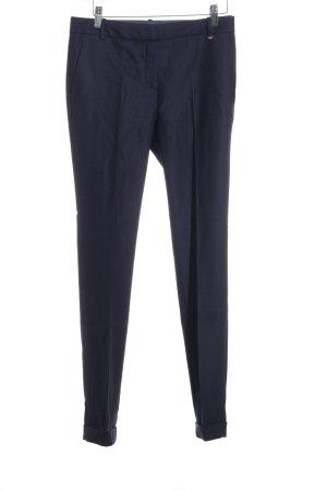 Massimo Dutti Bundfaltenhose dunkelblau Elegant