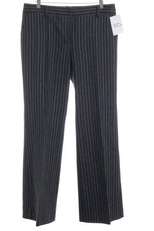 Massimo Dutti Pantalon à pinces noir-beige motif rayé style d'affaires