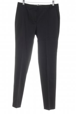 Massimo Dutti Bundfaltenhose schwarz Business-Look