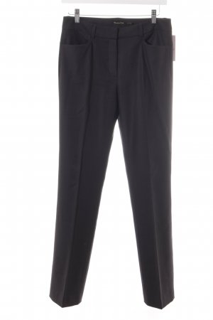 Massimo Dutti Pleated Trousers black business style