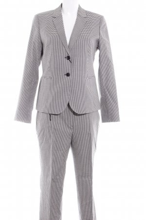 Massimo Dutti Business-Anzug schwarz-weiß Vichykaromuster Business-Look