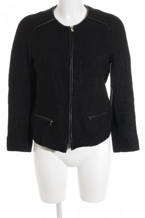 Massimo Dutti Cardigan schwarz Webmuster Casual-Look