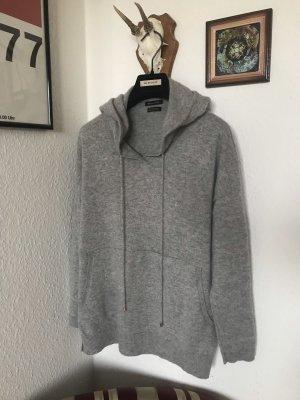 Massimo Dutti Cashmere Kaschmir Hoodie Kapuzen Pullover grau wNeu 199€ S 36
