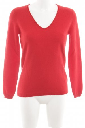 Massimo Dutti Cashmerepullover rot Casual-Look