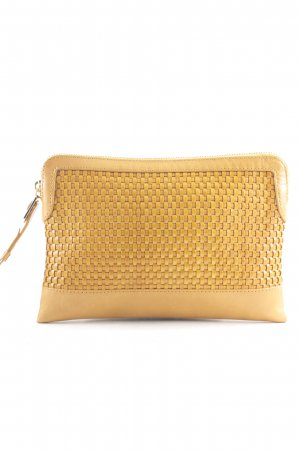 Massimo Dutti Clutch light orange simple style