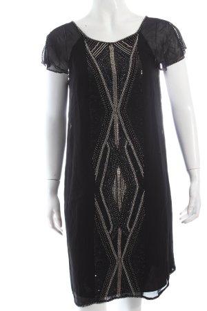 Massimo Dutti Cocktailkleid schwarz Paillettenverzierung