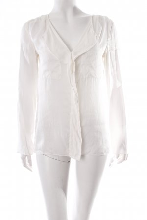 Massimo Dutti Crash Blouse cream silk